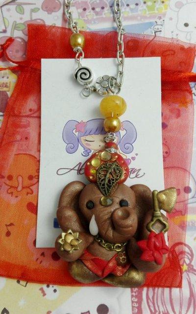 Collana Ganesh,ganesha,induismo,religione,elefante,zanna,kawaii style