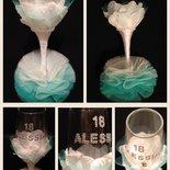 Bicchiere Tiffany petalo BIANCO evento speciale