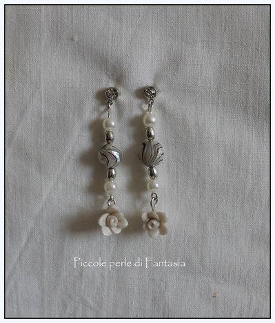orecchini rosellina perlata