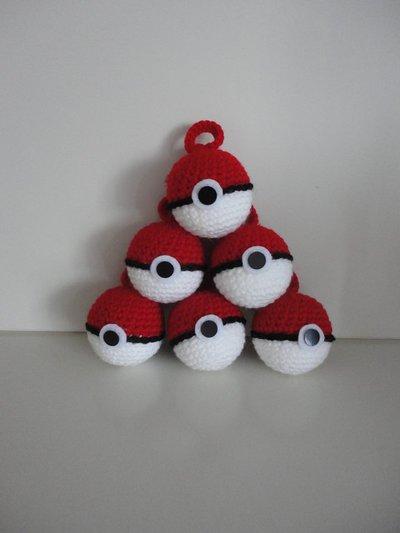 Pokeball-pokemon bomboniere/portachiavi realizzate a mano