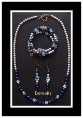 Parure Lapislazzuli Perle di Boemia