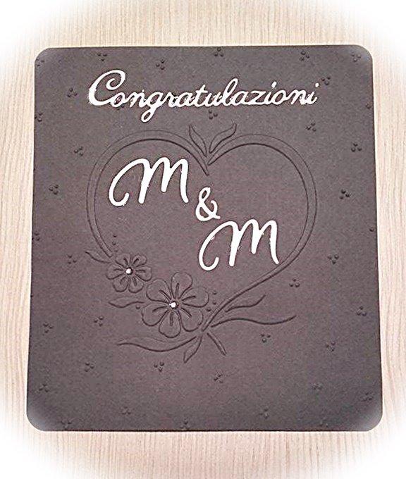 Al Matrimonio Auguri O Congratulazioni : Biglietto di congratulazioni per matrimonio o anniversario feste