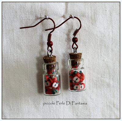 orecchini a bottiglietta mele
