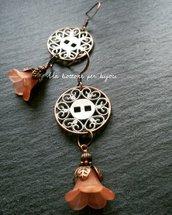 Orecchini con bottoni in metallo  stile vintage