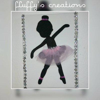 Quadretto di Tela con Ballerina