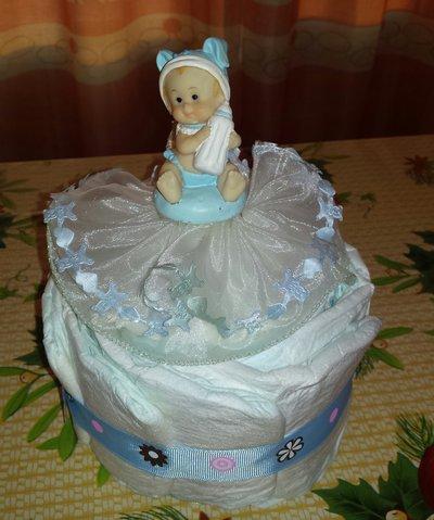 Mini Torta Pannolini nascita