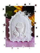 Stampo *Icona con calice, spiga e uva* per prima Comunione/Cresima
