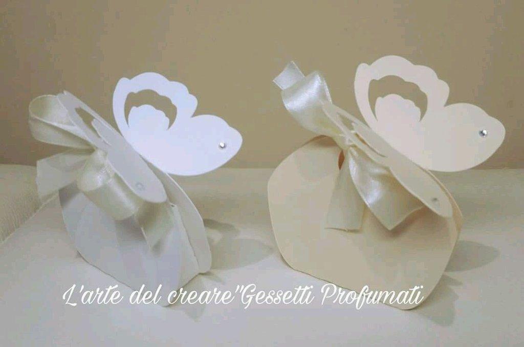 Scatola bomboniera (0,70pz) sacchetto porta-confetti matrimonio nozze FARFALLA
