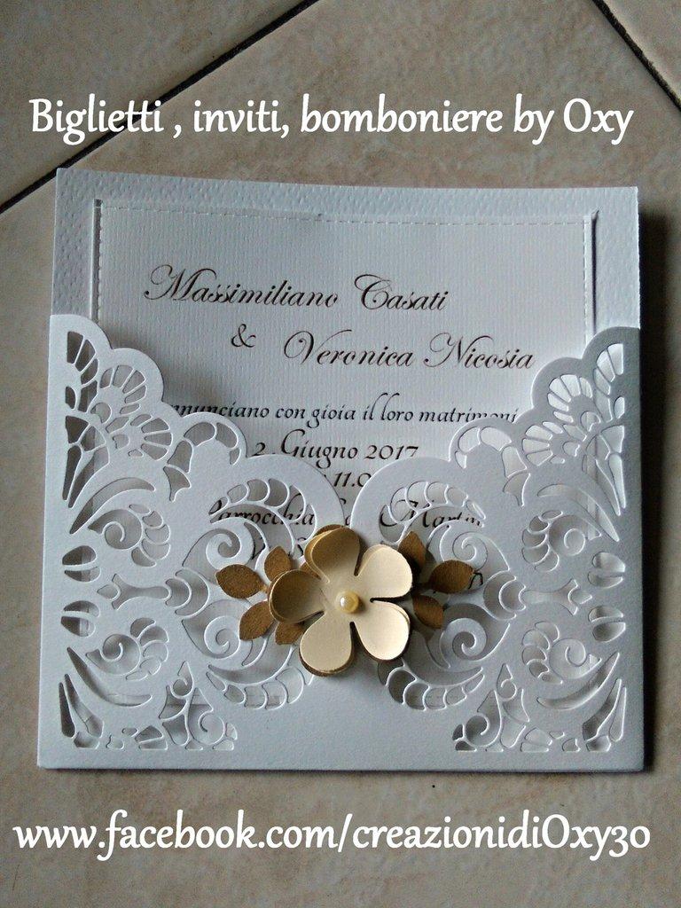 Partecipazione / Matrimonio/ Elegante