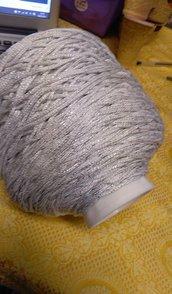 cordino thai effetto seta bianco lurex