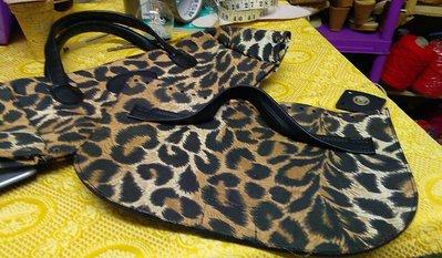 fascia borsa con cerniera manici in tessuto ,con patella abbinata
