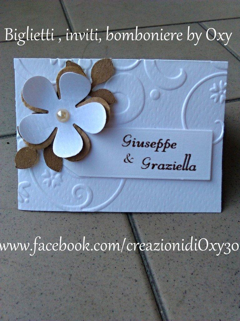 Top Segnaposto/ matrimonio / comunione / Battesimo / elegante - Feste  CS12