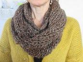 sciarpa di lana di alpaca fatta a ferri