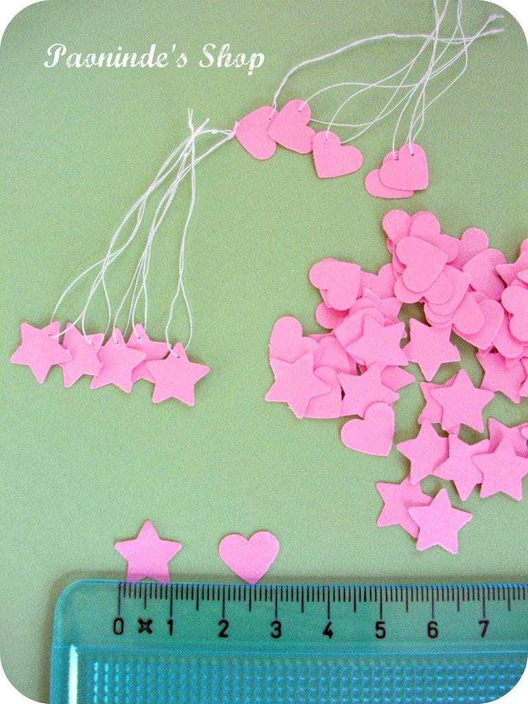 Cartellini prezzi stella/cuore