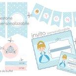 KIT PARTY principessa  pdf stampabile  e personalizzabile