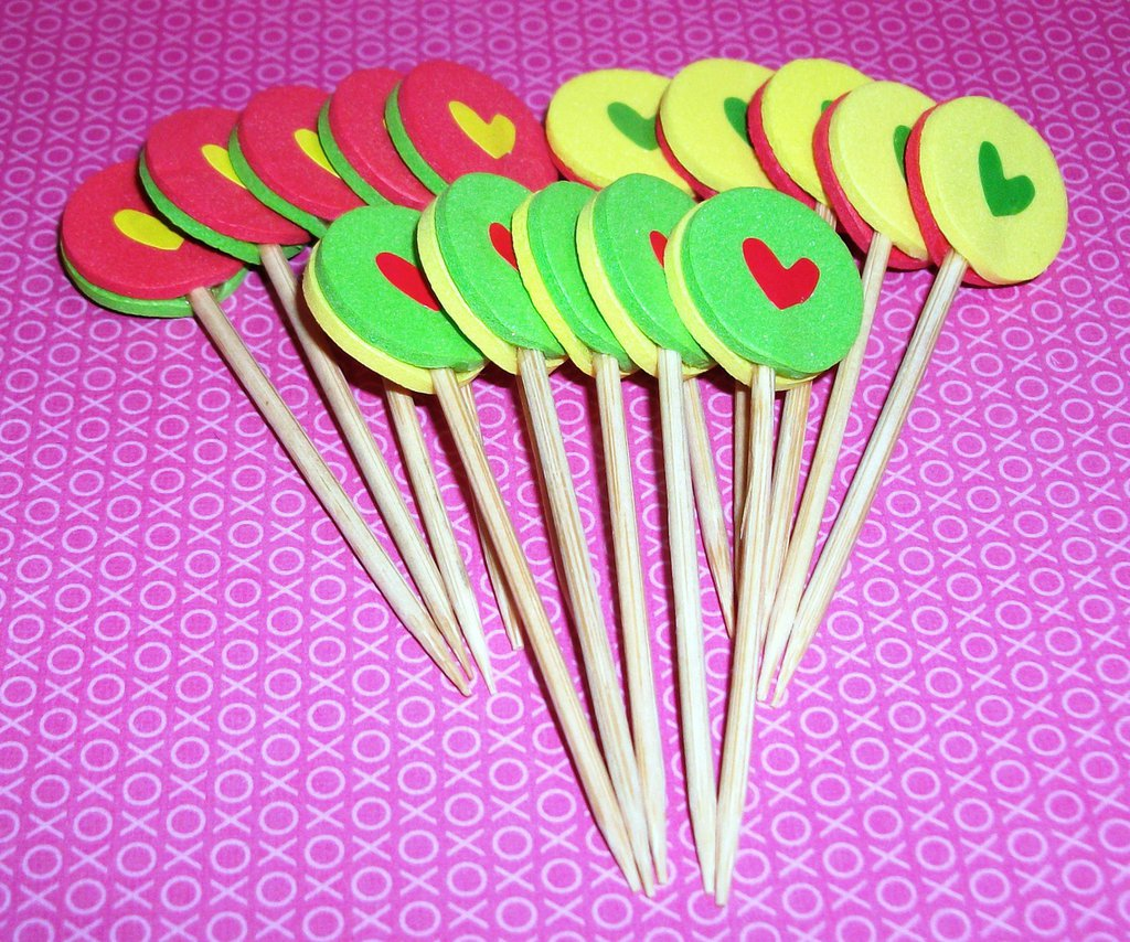 San Valentino Collection! - Muffin e CupCake Toppers^^ - Decorazioni per Dolci - LoveSet-2^^ (lotto 15pz)