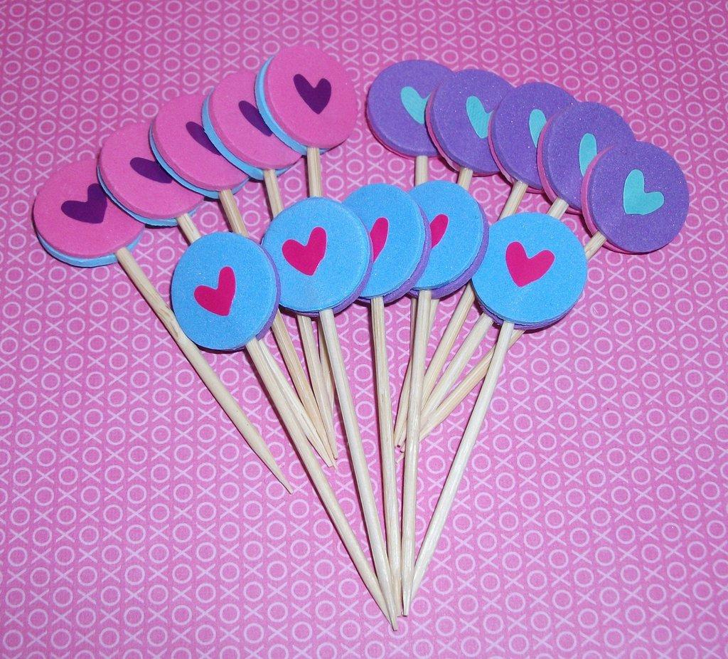 San Valentino Collection! - Muffin e CupCake Toppers^^ - Decorazioni per Dolci - LoveSet-3^^ (lotto 15pz)