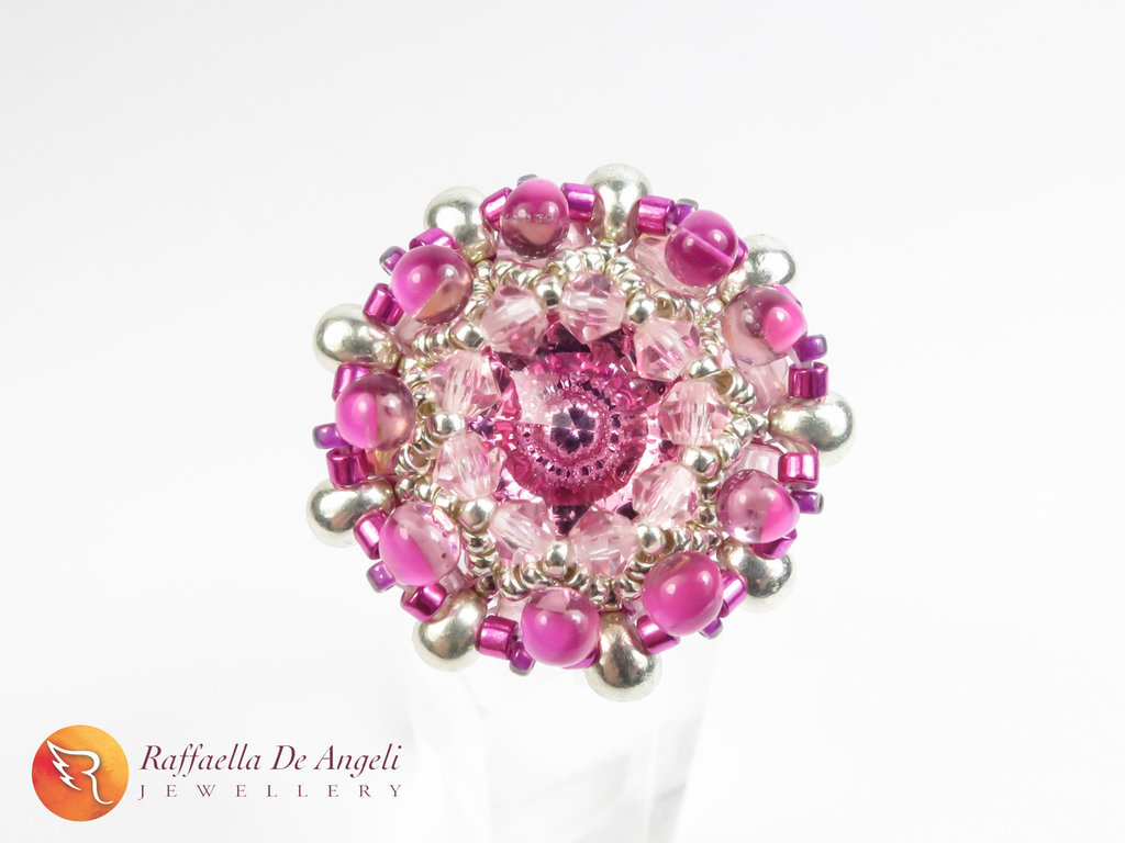 Anello rosa cristallo Beatrice 02