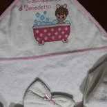 Accappatoio neonata fatto a mano