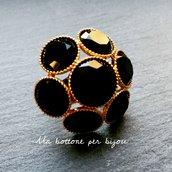 Anello con maxi bottone gioiello vintage