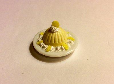 Mousse al limone in fimo dollshouse miniature