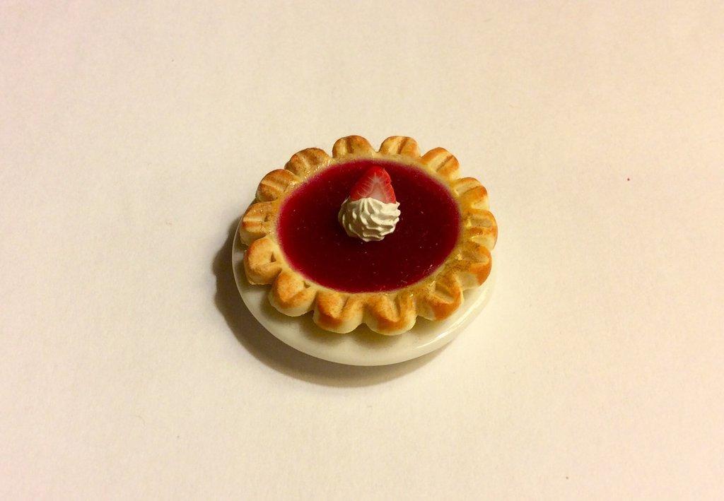 Torta alla fragola dollshouse miniature