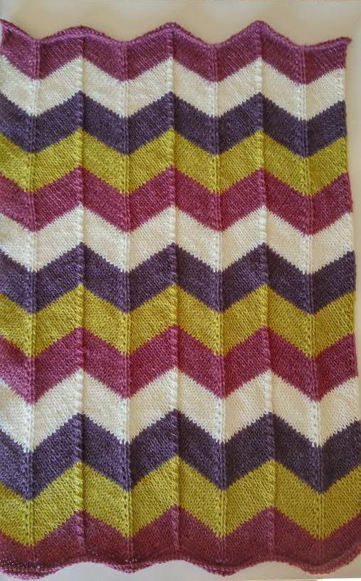 Copertina bimbi in lana fatta a mano