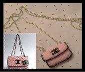 Collana borsa Chanel rosa
