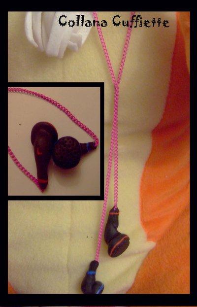Collana cuffiette mp3 ( fimo )