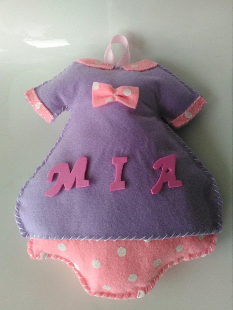 Fiocco nascita vestitino