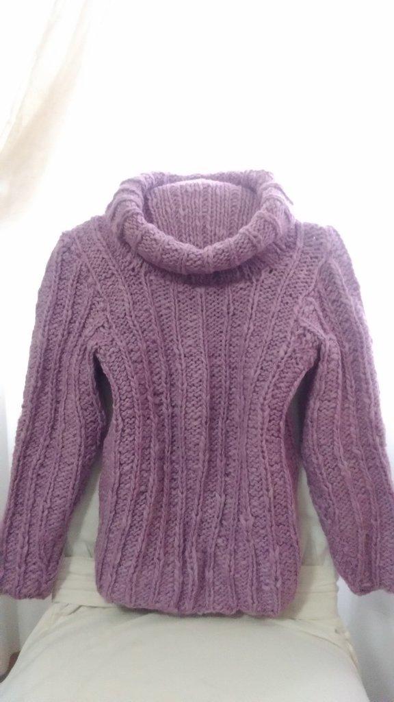 Maglione rosa lilla