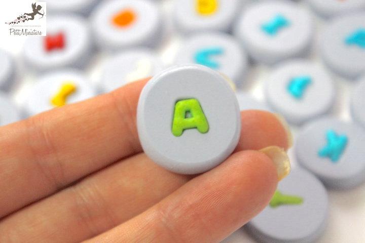 Stampo silicone flessibile Lettera alfabeto misura lettera 10mm- stampo gioielli fimo kawaii resina sapone fimo ST255