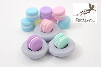 Stampo Silicone Flessibile macaron, 1,2cm Miniature cibo,gioielli,charms,macaron,fimo,polymer clay,resina,sapone,dolce,Parigi ST262