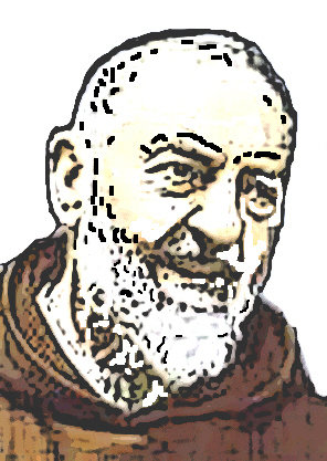 "ricamo ""Padre Pio"""