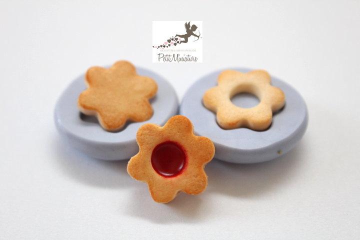Stampo Silicone Biscotto Fiore 2cm-Stampo Gioielli -Fimo kawaii-Stampo per Fimo Resina Cera Gesso pasta di zucchero ST265