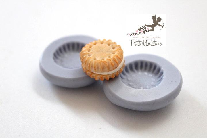 Stampo Silicone Biscotto -Stampo Gioielli -Fimo kawaii-Stampo per Fimo Resina Cera Gesso pasta di zucchero ST266