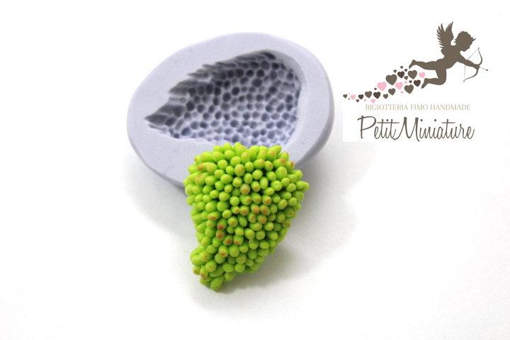 Stampo fimo silicone flessibile-Uva-Stampo Uva-Fimo gioielli-resina cera gesso fimo kawaii-Stampo per gioielli fai da te ST270