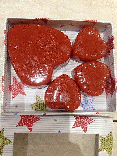4 saponette  cuore