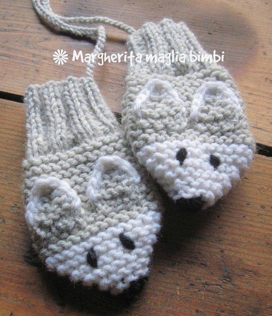 Muffole volpe argentata, guanti, manopole bambino in pura lana e alpaca fatti a mano