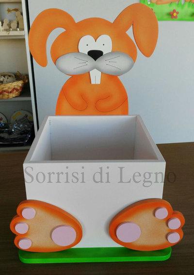 INSERZIONE PRIVATA Coniglietto porta oggetti con scatola