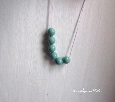 "LOTTO 10 perle ""Jade Pearl"" (6 mm) (cod. S5810)"