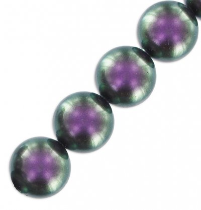 "OFFERTA! LOTTO 4 perle ""IRIDESCENT PURPLE Pearl"" (8 mm) (cod. S5810)"