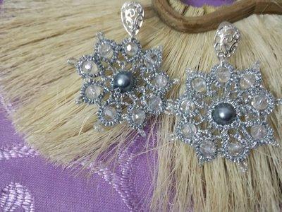 Orecchini margherita argento