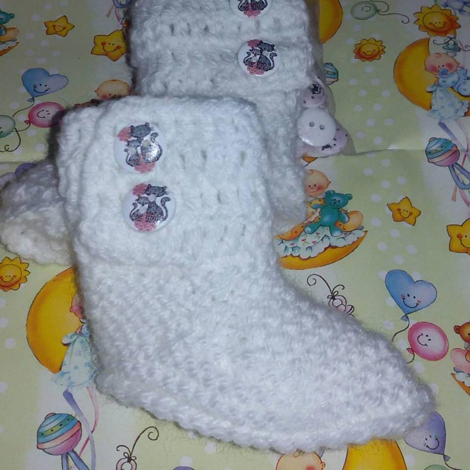 Scarpette scarpine  neonato regalo lana stivaletti tipo Ugg