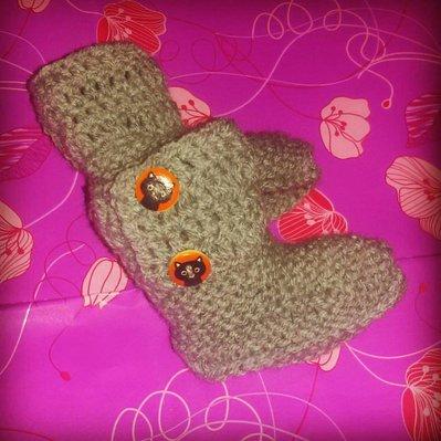 Scarpette scarpine  neonato regalo lana