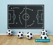 Lavagna adesiva Campo di calcio - adesivi murali bambini - lavagna da parete - stickers lavagna