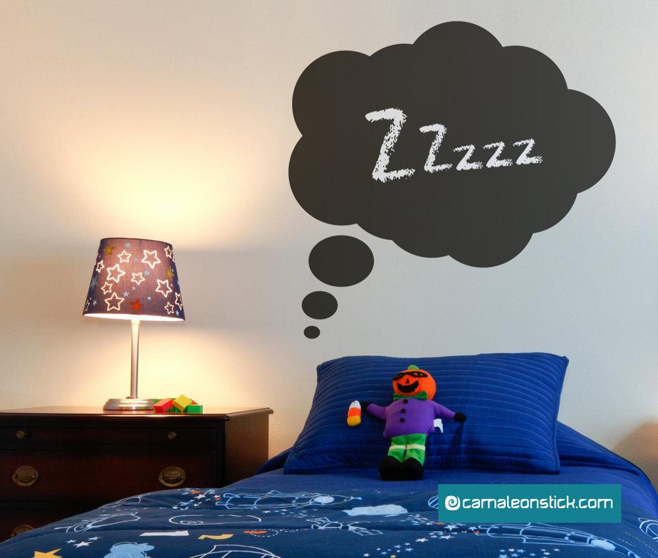 Lavagna adesiva fumetto nuvola - adesivi murali bambini - lavagna da parete - stickers lavagna