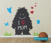 Lavagna adesiva Morbidoso - adesivi murali bambini - lavagna da parete - stickers lavagna