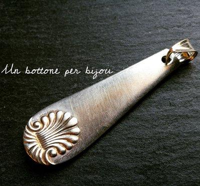 Ciondolo con parti di cucchiaio da argenteria d'epoca di fine '800/inizio '900