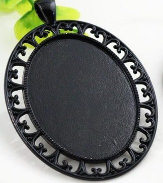 NOVITA'! Base cabochon color nero (dcod.4044)